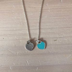 Tiffany & Co. Teal Heart Necklace
